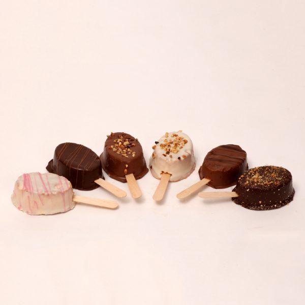 Choco-muffin lollies