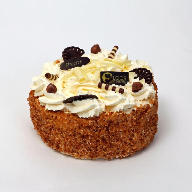 Slagroomprogrestaart met witte chocolade van Bakkerij Floor van Lieshout