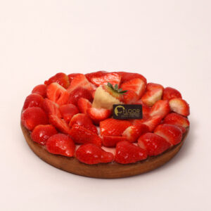 Verse aardbeien op vlaai van Bakkerij Floor van Lieshout