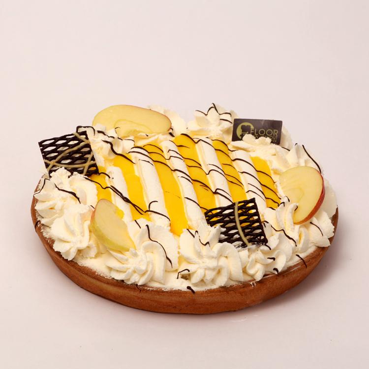 Appelvlaai en citroen met slagroom van Bakkerij Floor van Lieshout