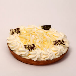 Rijstevlaai met slagroom en witte chocolade van Bakkerij Floor van Lieshout