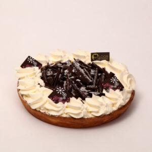 Kersenvlaai met chocolade en slagroom van Bakkerij Floor van Lieshout