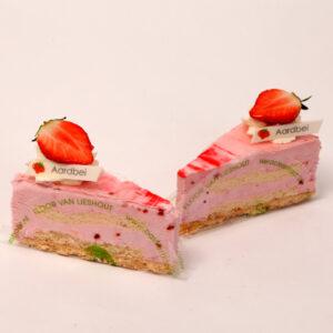 Bavaroise punt in smaak aardbei van Bakkerij Floor van Lieshout