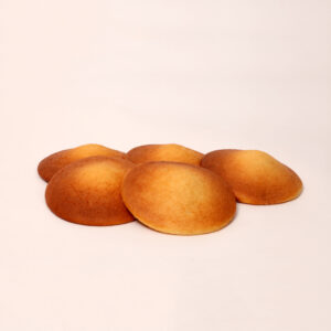 Gele eierkoek van bakkerij floor van lieshout