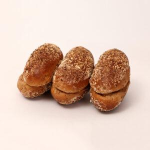 Meergranenpuntjes gevuld met verschillende zaden van bakkerij floor van lieshout