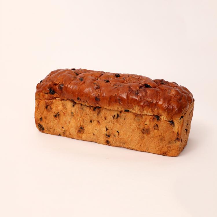 Brood met rozijnen en krenten van bakkerij floor van lieshout